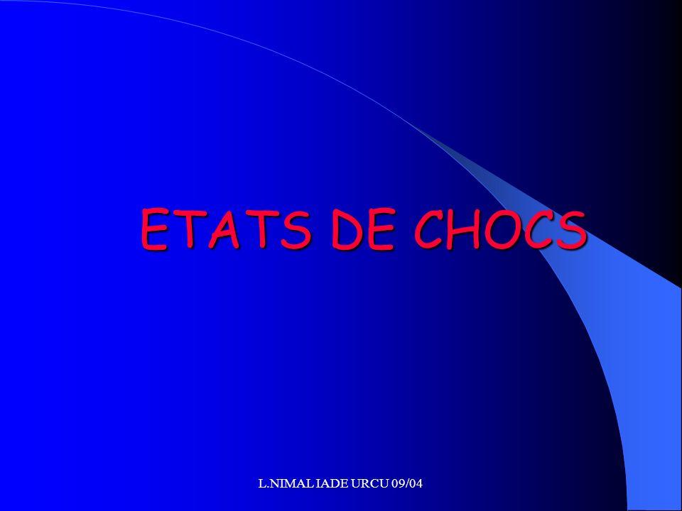 ETATS DE CHOCS L.NIMAL IADE URCU 09/04
