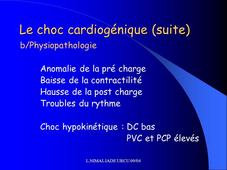 Le choc cardiogénique (suite)