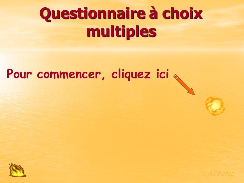 Questionnaire à choix multiples
