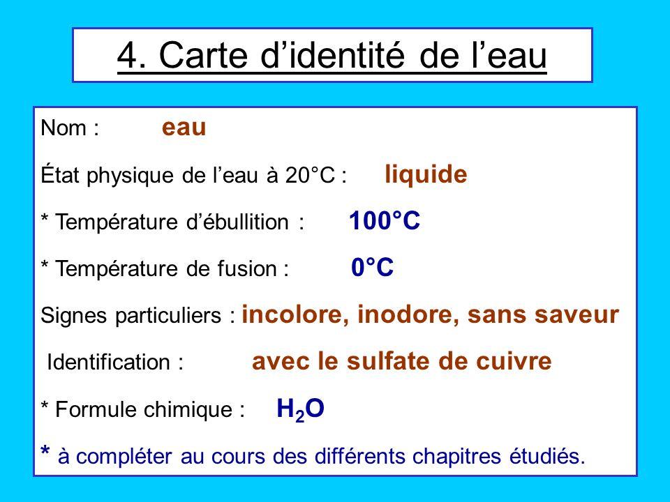 4. Carte d'identité de l'eau