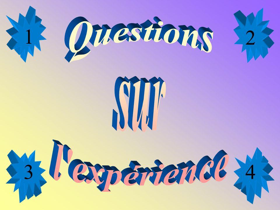 1 2 Questions sur l expérience 3 4
