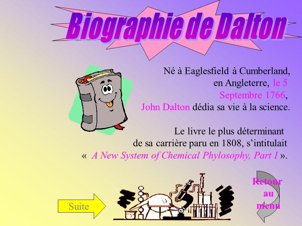 Biographie de Dalton Né à Eaglesfield à Cumberland,