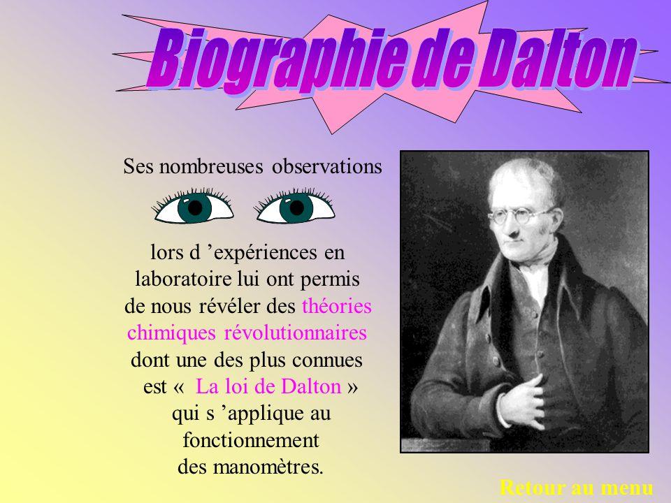 Biographie de Dalton Ses nombreuses observations
