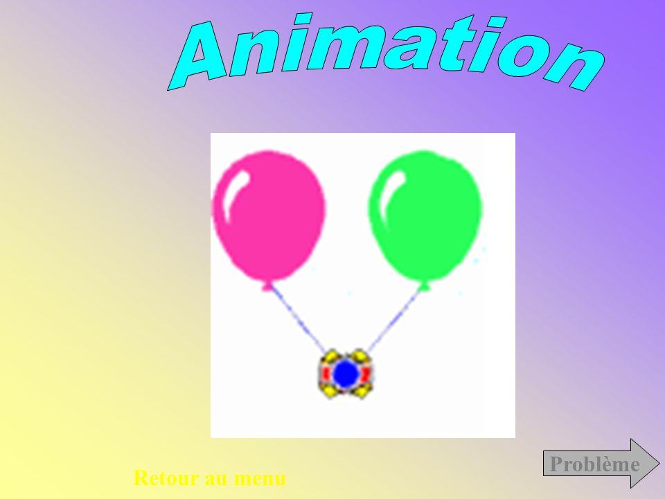 Animation Problème Retour au menu