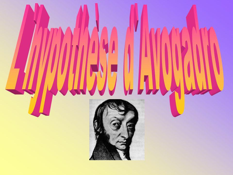 L`hypothèse d`Avogadro
