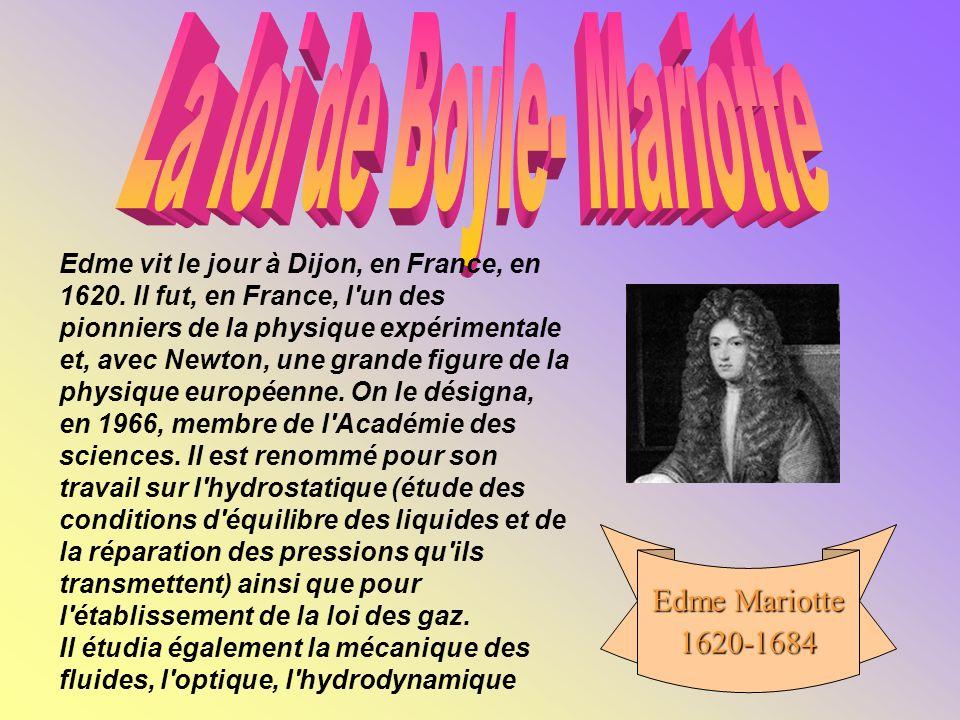 La loi de Boyle- Mariotte