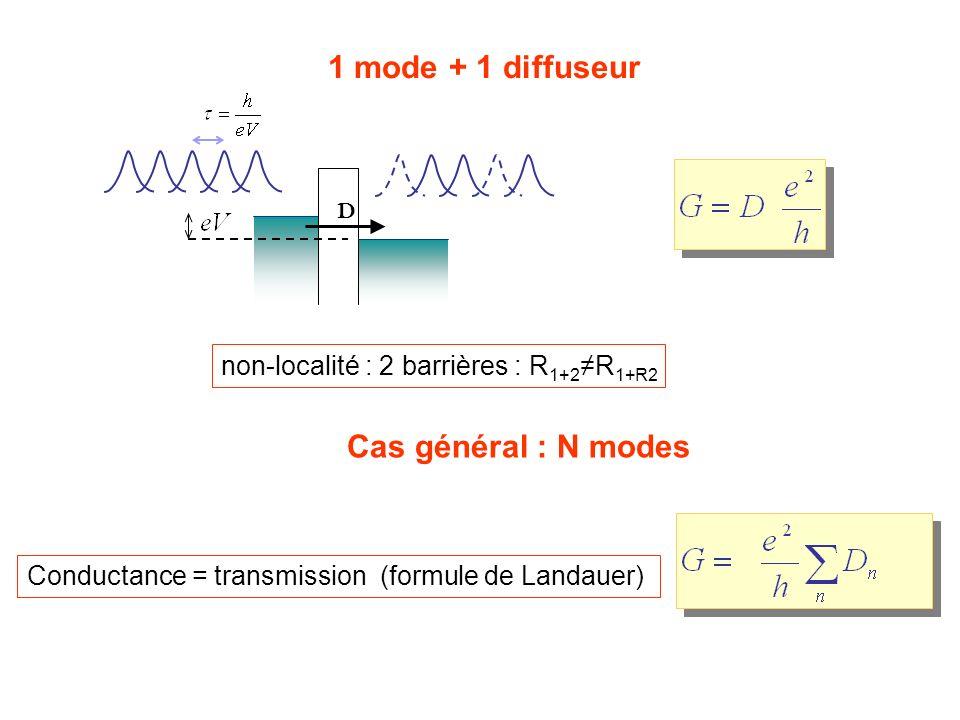 1 mode + 1 diffuseur Cas général : N modes
