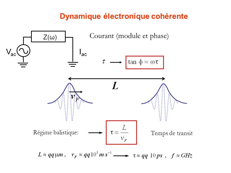 Dynamique électronique cohérente