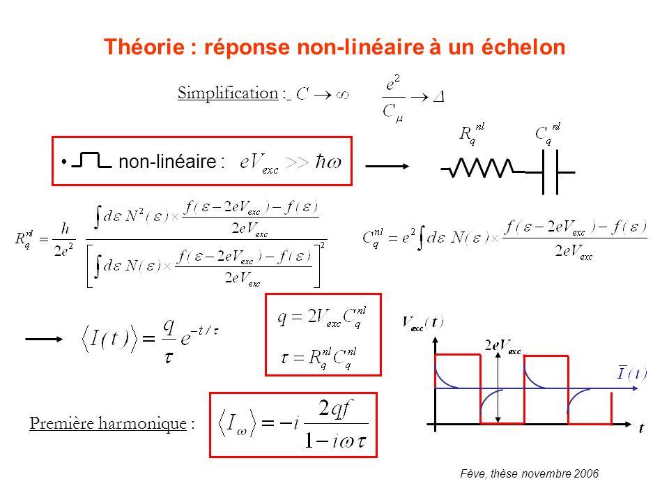 Théorie : réponse non-linéaire à un échelon