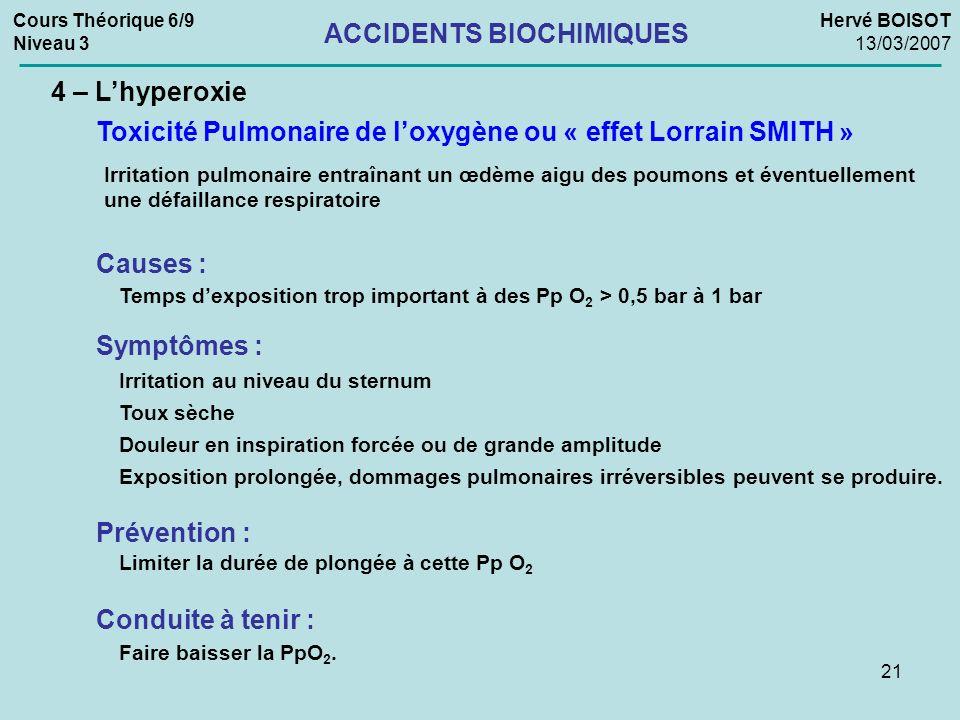 ACCIDENTS BIOCHIMIQUES