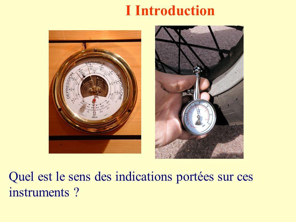 I Introduction Quel est le sens des indications portées sur ces instruments