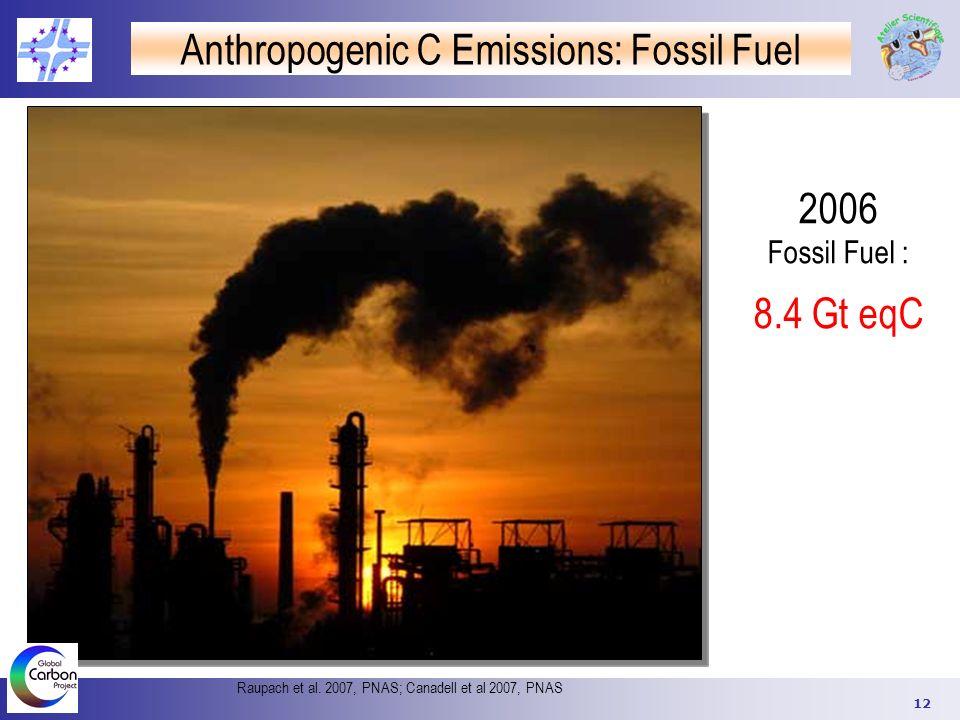 Anthropogenic C Emissions: Fossil Fuel