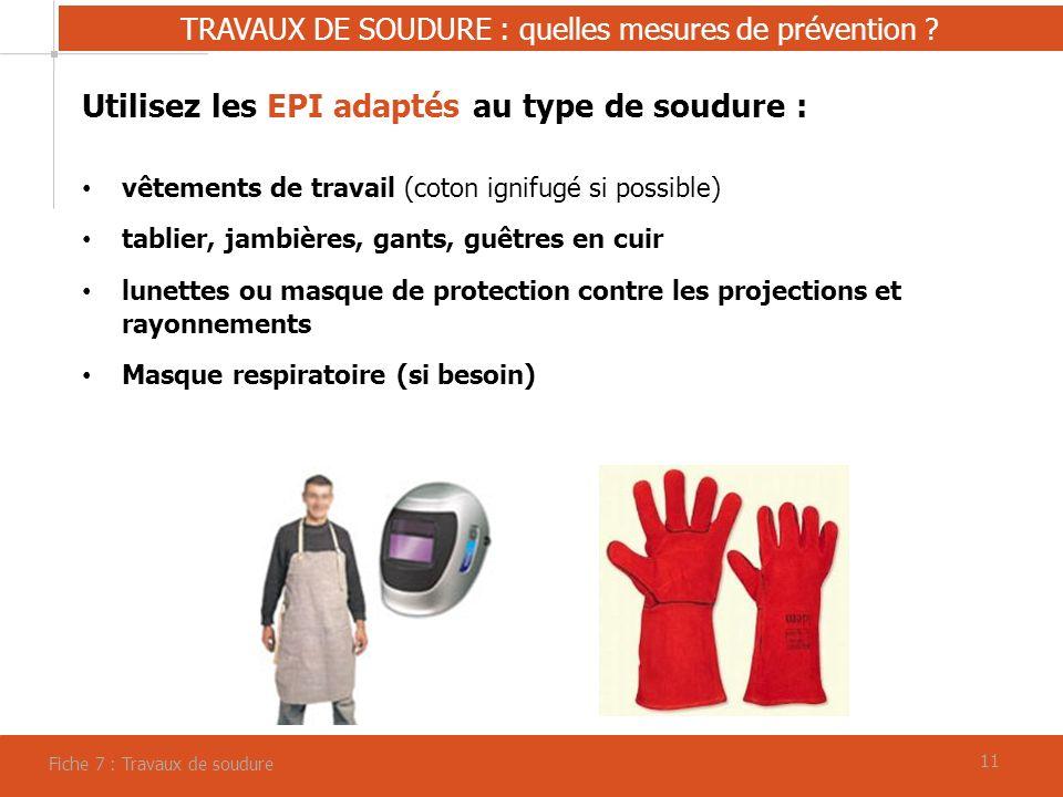 TRAVAUX DE SOUDURE : quelles mesures de prévention