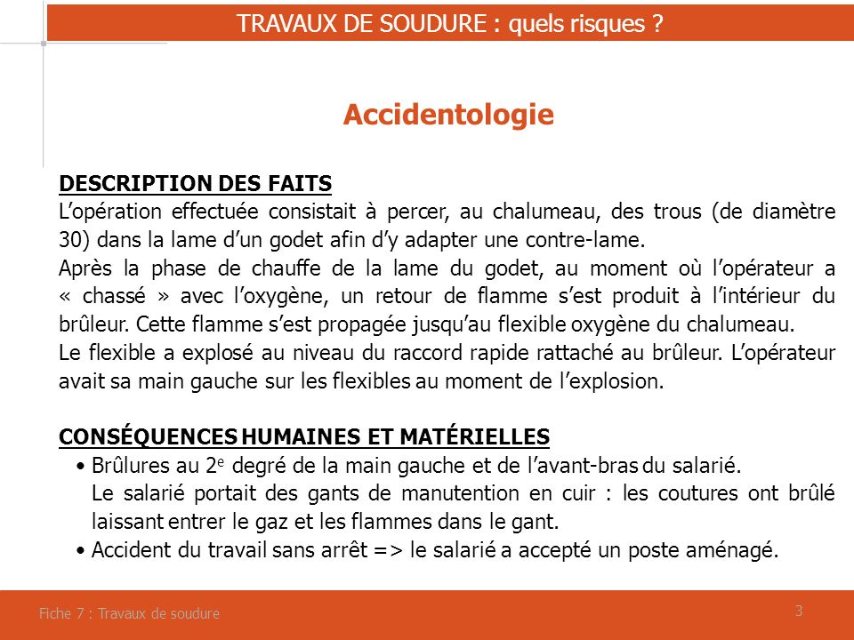 Moments s curit fiche 7 travaux de soudure ppt video online t l charger - Mettre un robinet d arret sans soudure ...