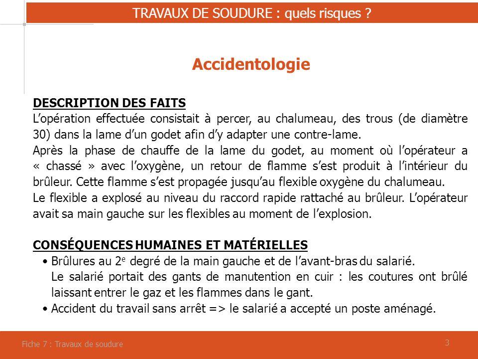 TRAVAUX DE SOUDURE : quels risques