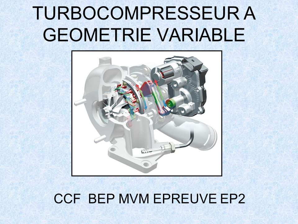 TURBOCOMPRESSEUR A GEOMETRIE VARIABLE
