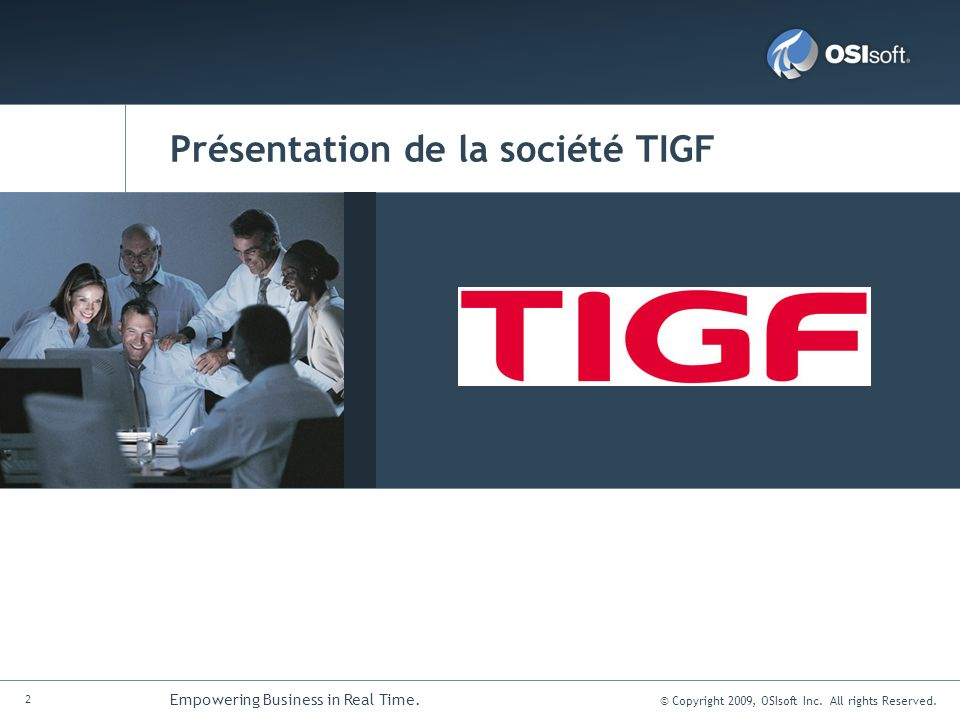 Présentation de la société TIGF