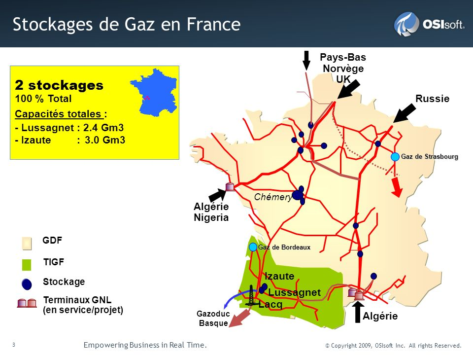 Stockages de Gaz en France