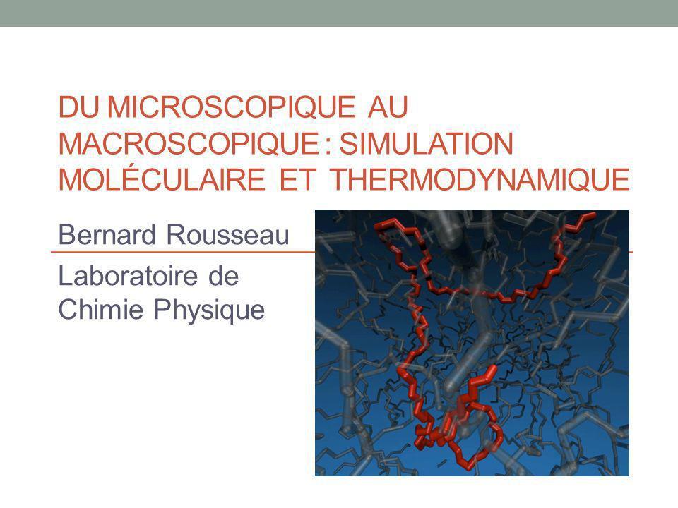 Bernard Rousseau Laboratoire de Chimie Physique