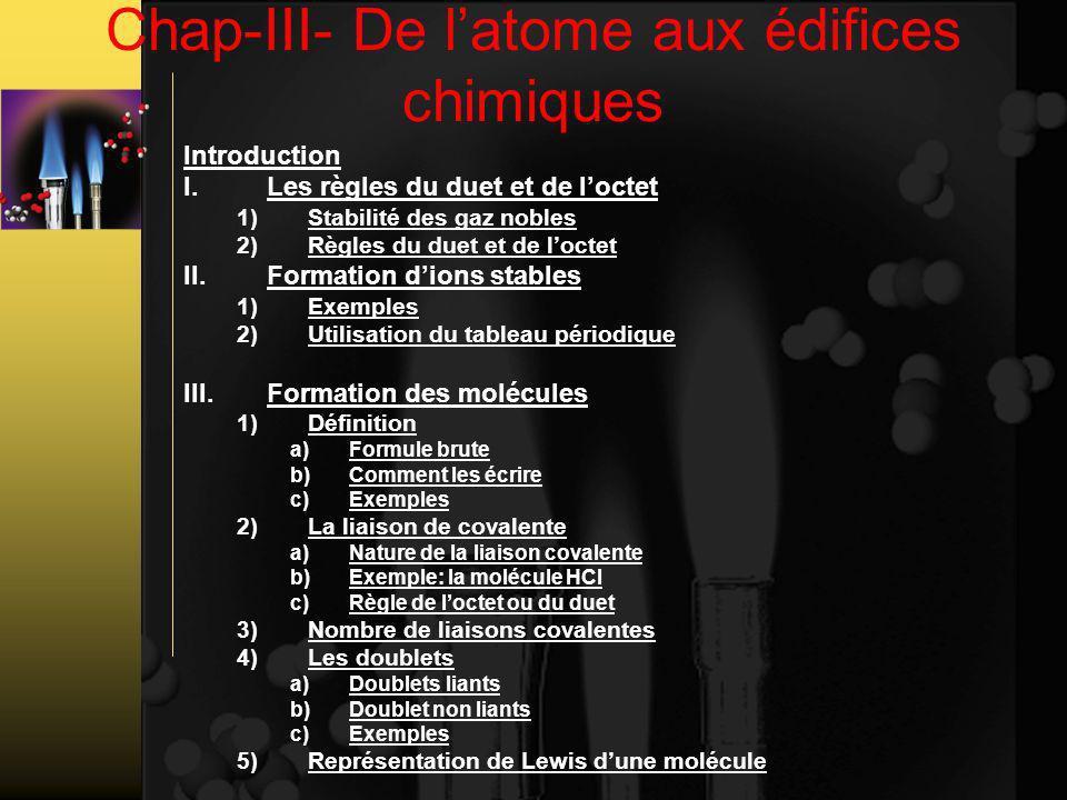 Chap-III- De l'atome aux édifices chimiques