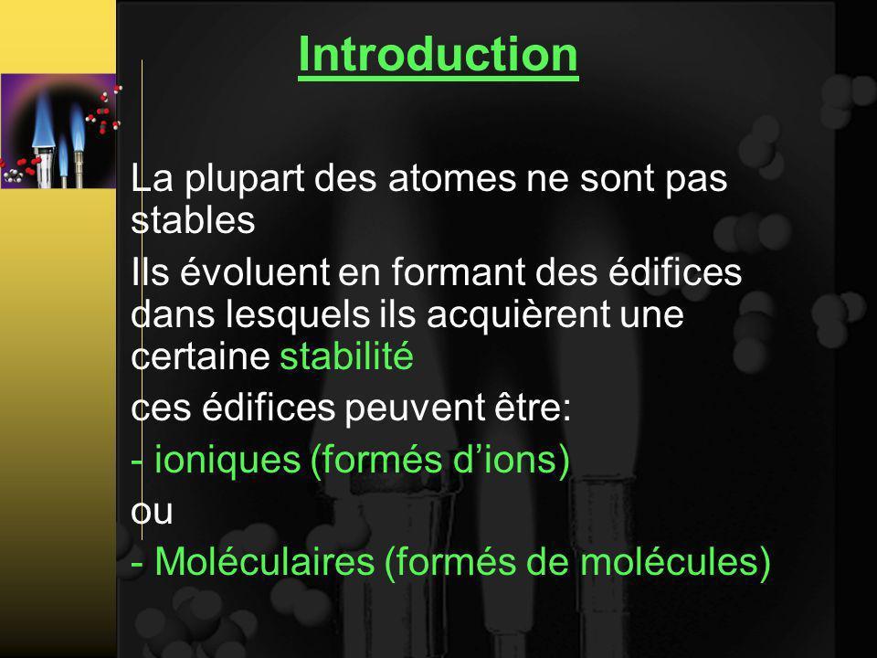 Introduction La plupart des atomes ne sont pas stables
