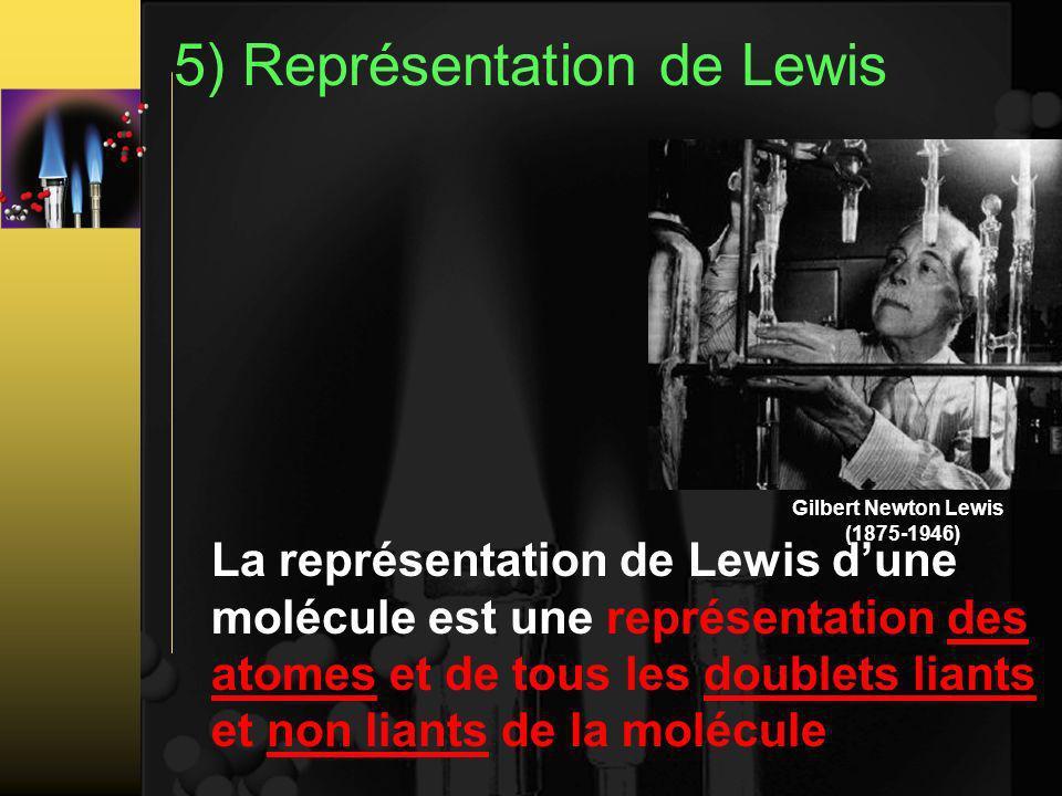 5) Représentation de Lewis
