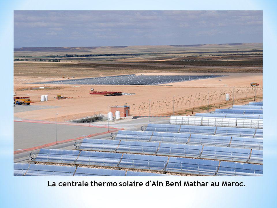 La centrale thermo solaire d Ain Beni Mathar au Maroc.