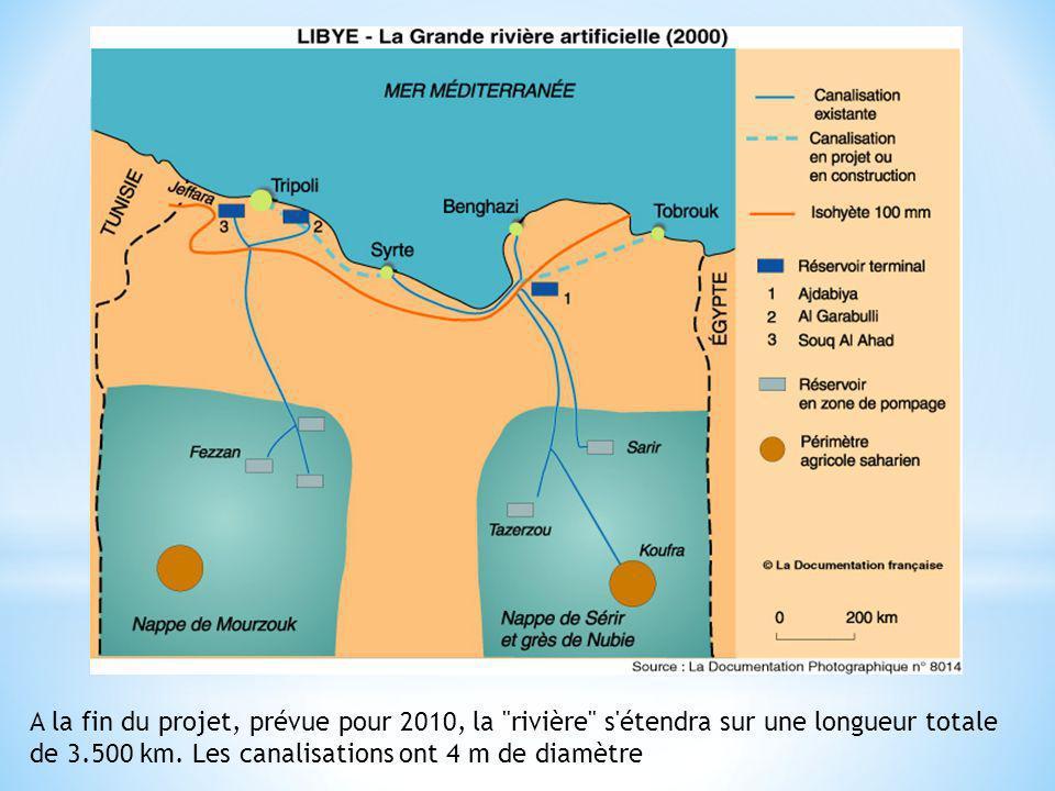 A la fin du projet, prévue pour 2010, la rivière s étendra sur une longueur totale de 3.500 km.