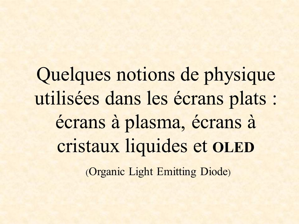(Organic Light Emitting Diode)