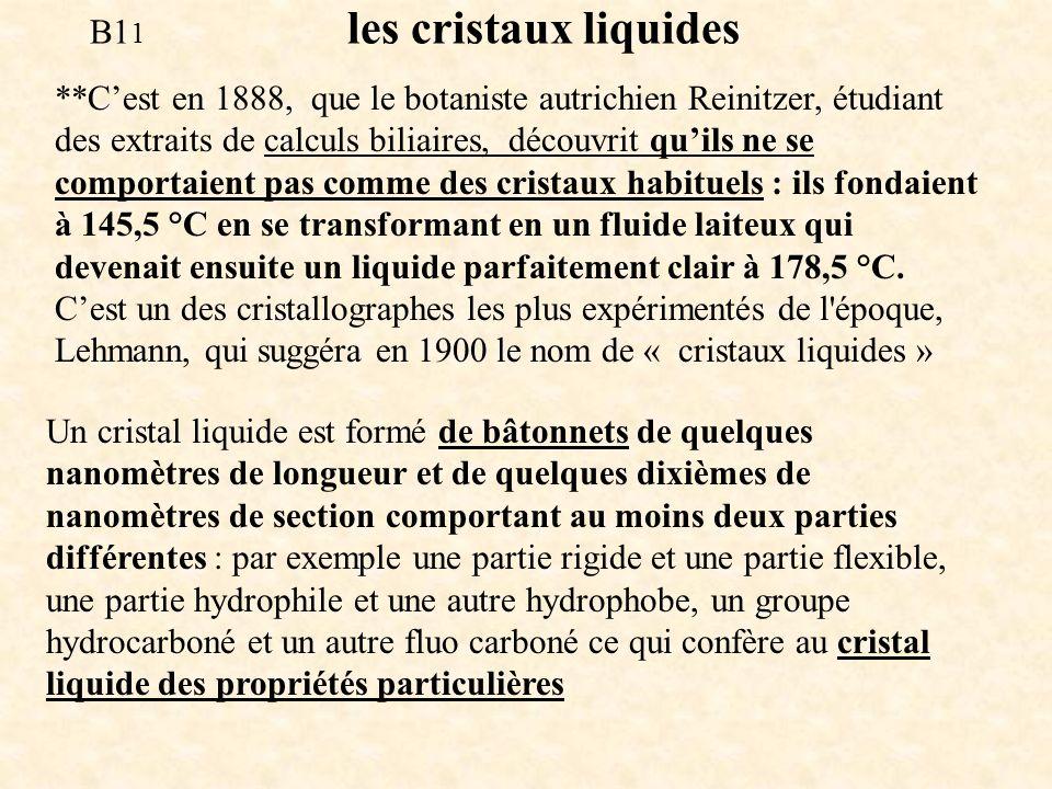 B11 les cristaux liquides