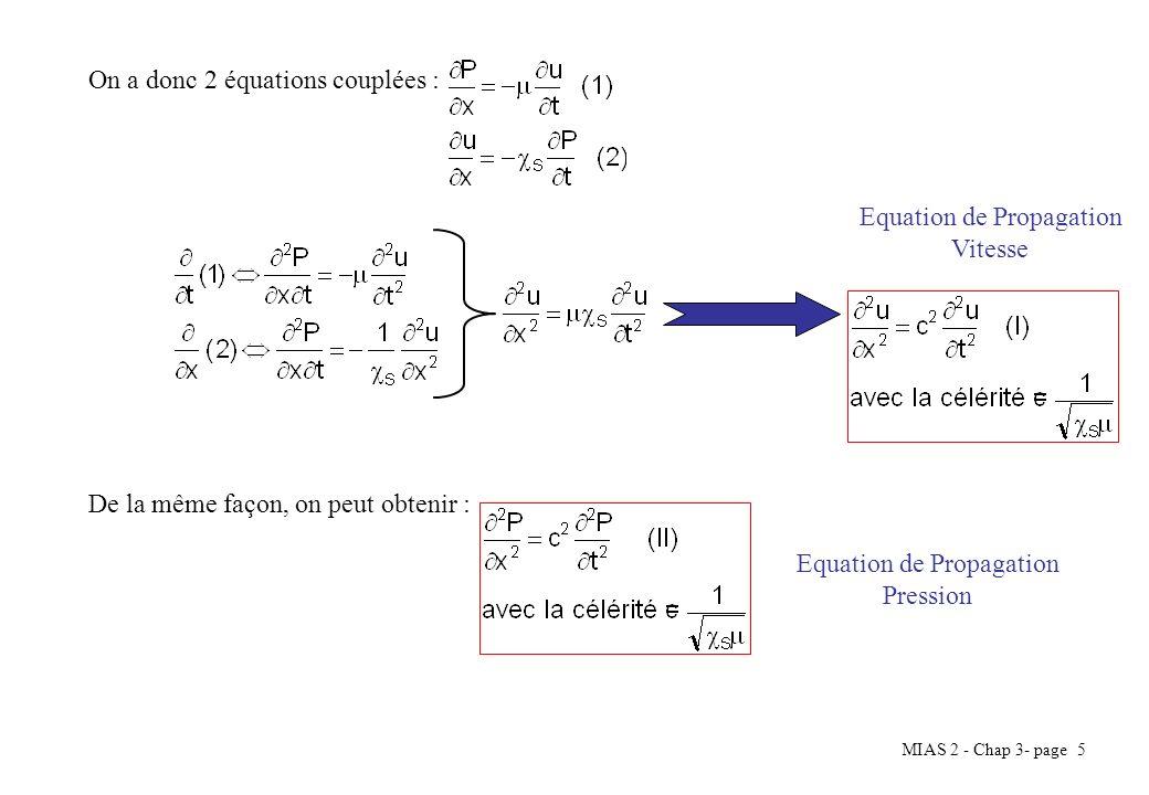 On a donc 2 équations couplées :