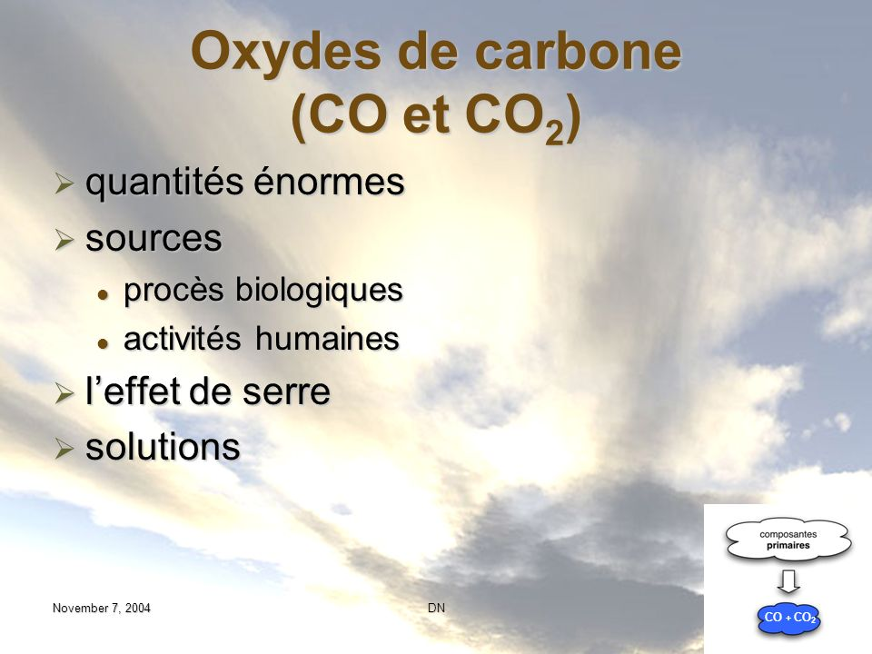 Oxydes de carbone (CO et CO2)