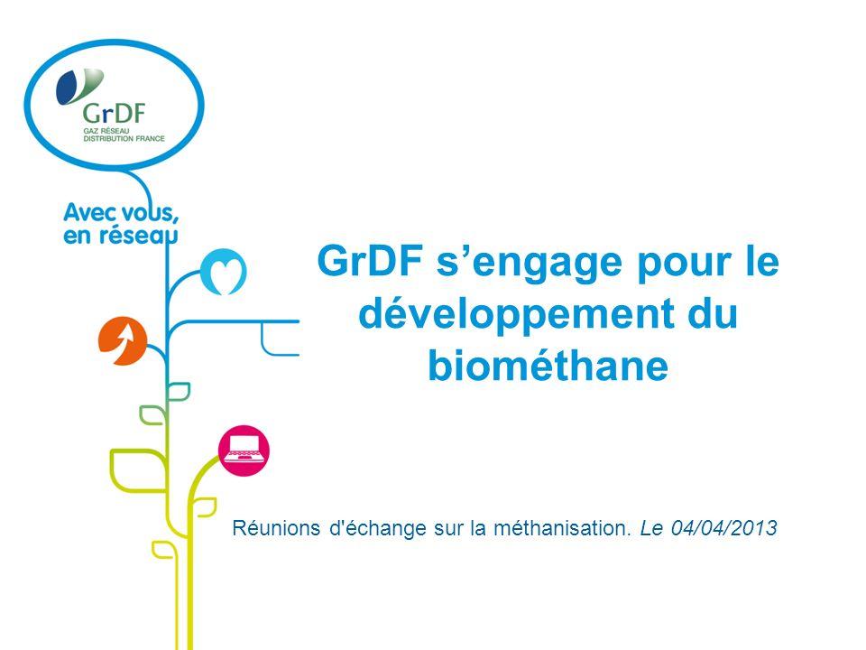 GrDF s'engage pour le développement du biométhane