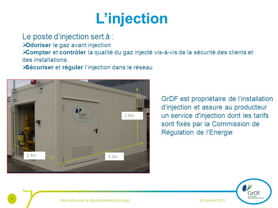 L'injection Le poste d'injection sert à :