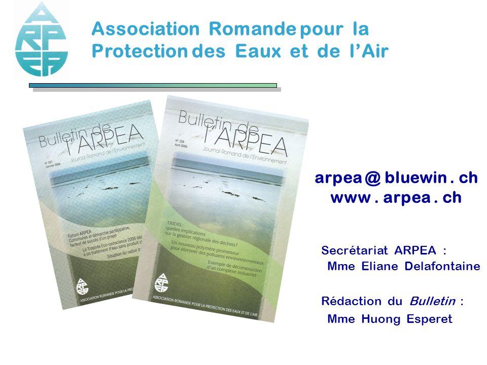 arpea @ bluewin . ch www . arpea . ch