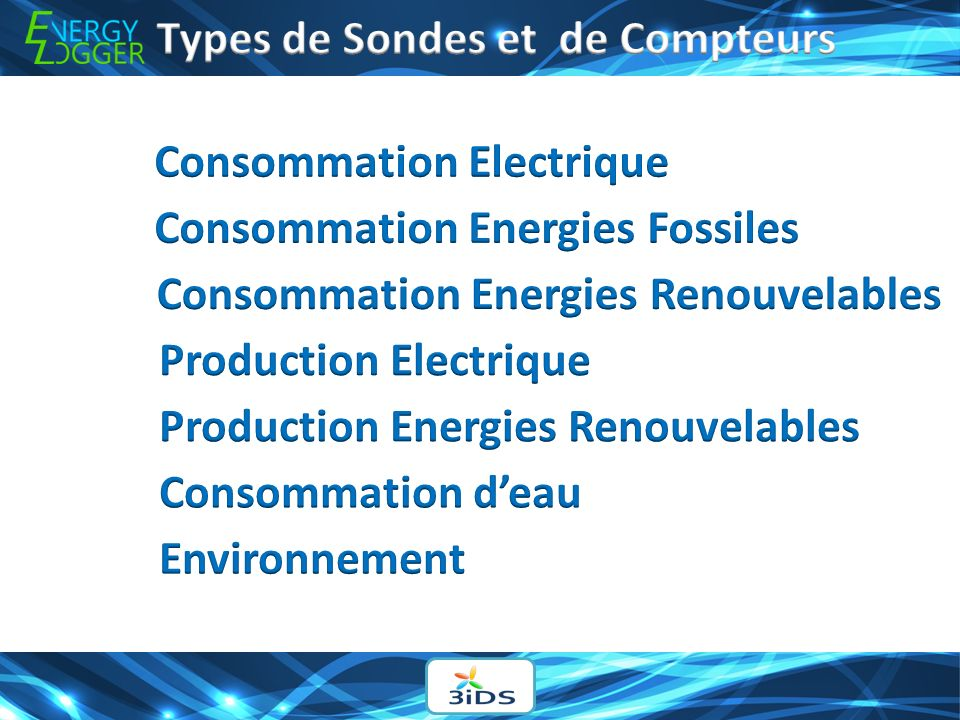 Types de Sondes et de Compteurs