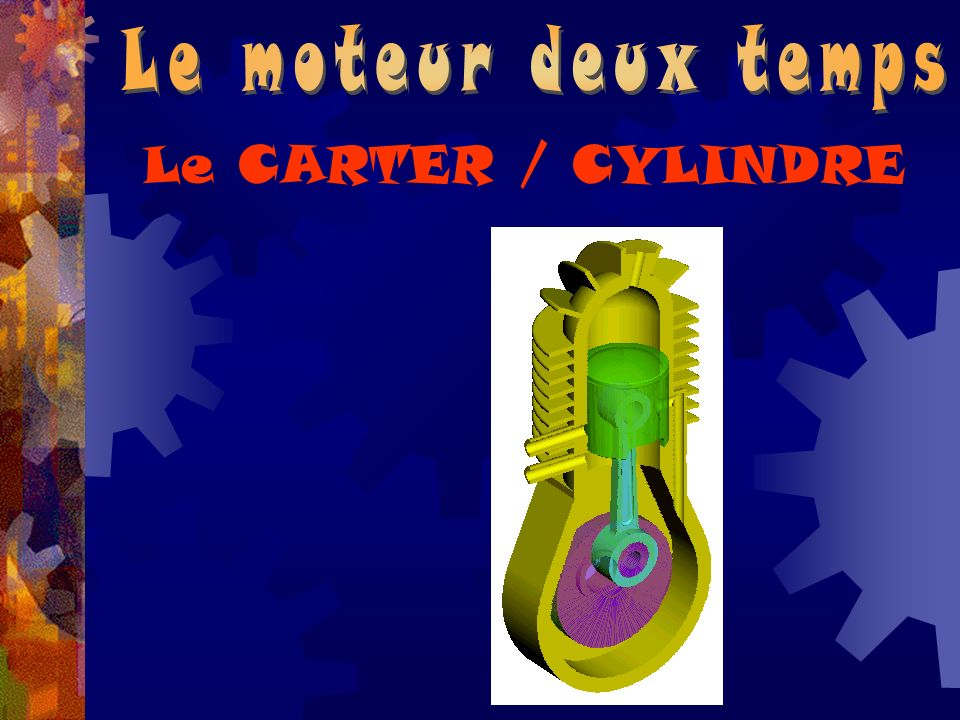 Le moteur deux temps Le CARTER / CYLINDRE