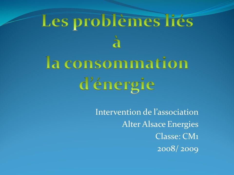 la consommation d'énergie
