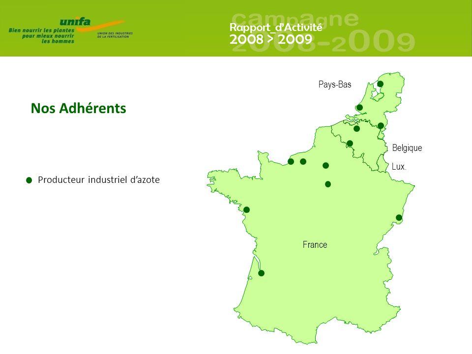 Nos Adhérents Producteur industriel d'azote Pays-Bas Belgique Lux.