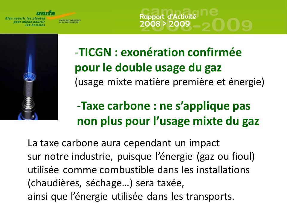 TICGN : exonération confirmée pour le double usage du gaz