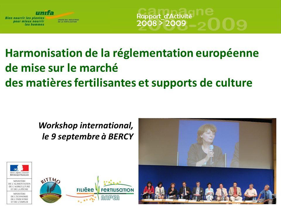 Harmonisation de la réglementation européenne de mise sur le marché des matières fertilisantes et supports de culture