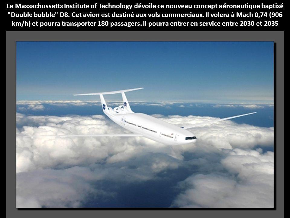 Le Massachussetts Institute of Technology dévoile ce nouveau concept aéronautique baptisé Double bubble D8.