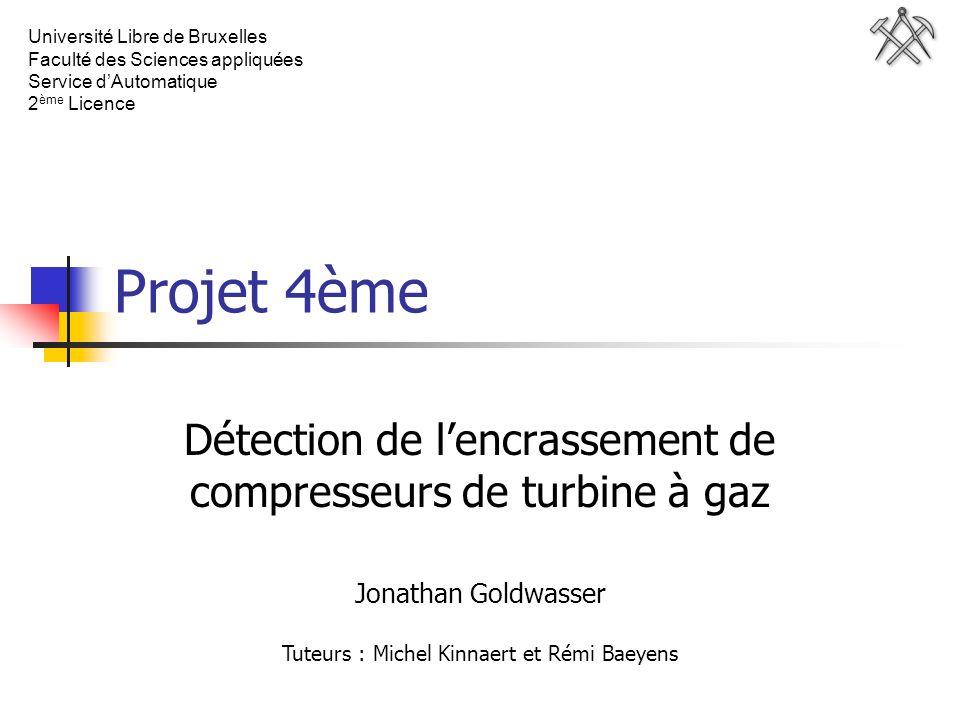 Jonathan Goldwasser 13 avril 2005. Université Libre de Bruxelles. Faculté des Sciences appliquées.
