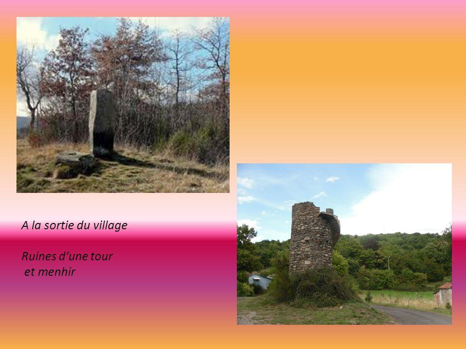 A la sortie du village Ruines d'une tour et menhir