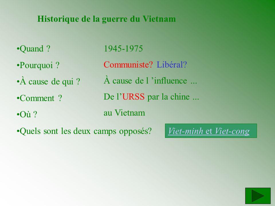 Historique de la guerre du Vietnam