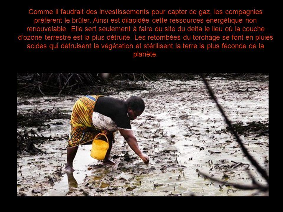Comme il faudrait des investissements pour capter ce gaz, les compagnies préfèrent le brûler.