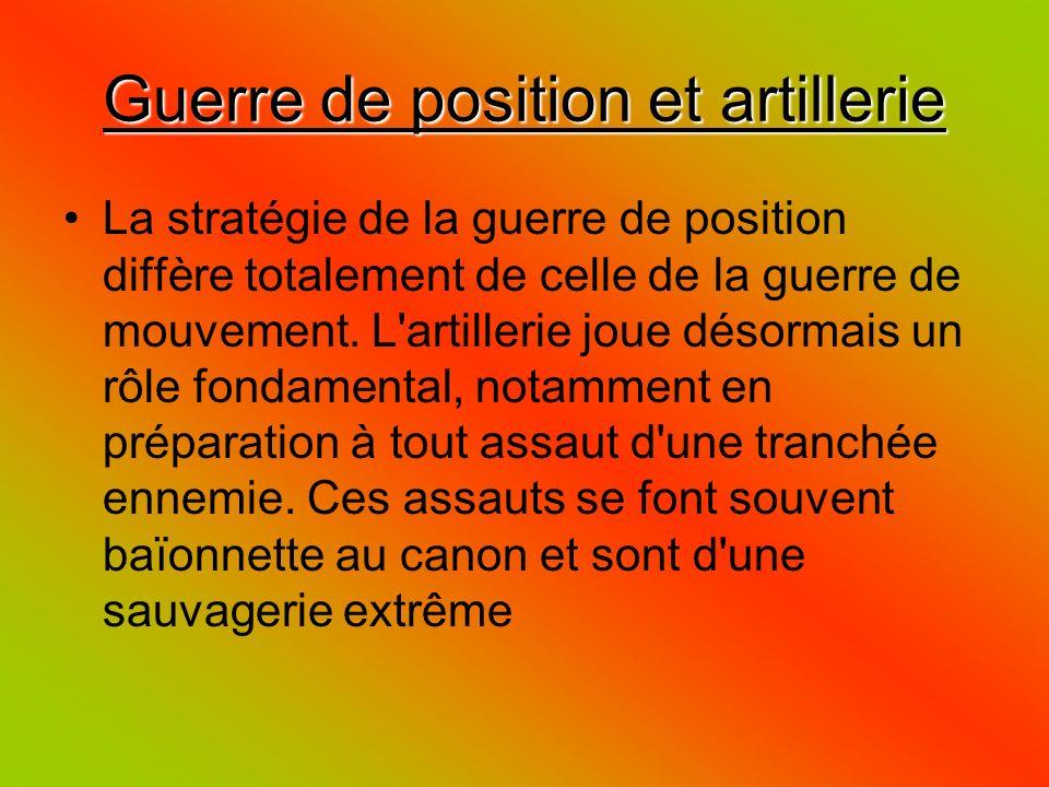 Guerre de position et artillerie