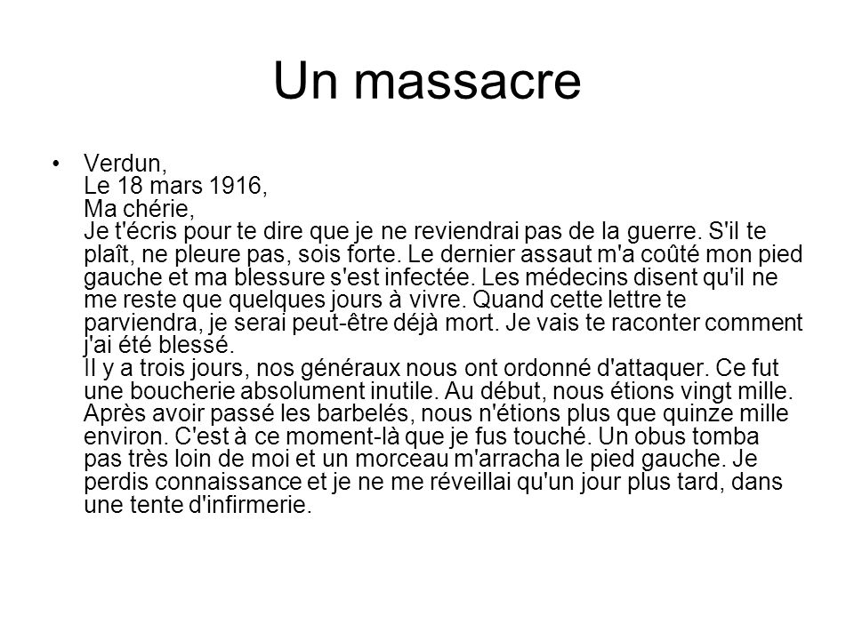 Un massacre