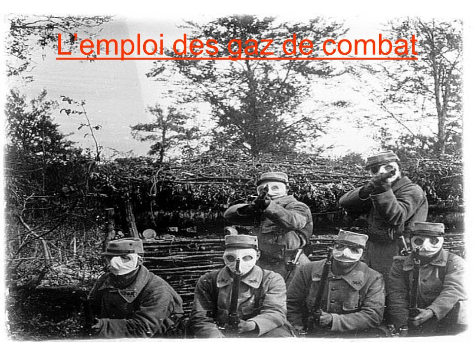 L'emploi des gaz de combat