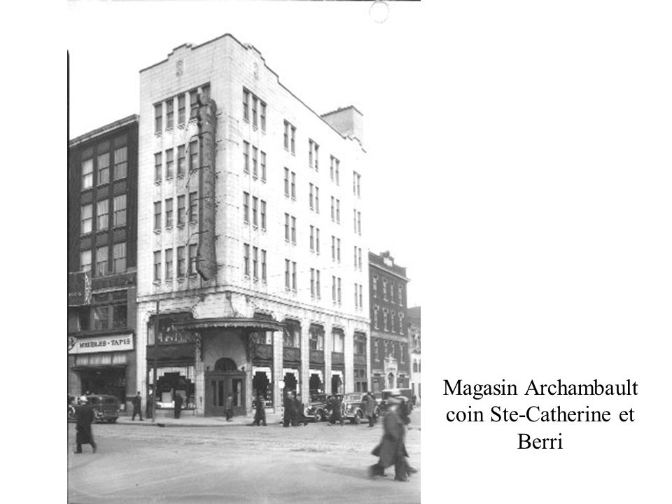 Magasin Archambault coin Ste-Catherine et Berri